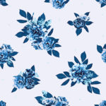 Fabric - Flowers and Leaves (Cerulean)